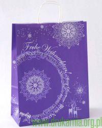 torby świąteczne fioletowe