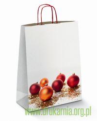 torby świąteczne z bombkami