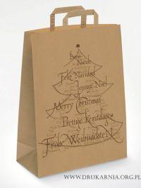torby świąteczne z choinką