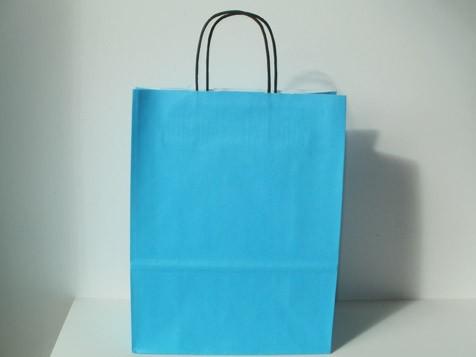 Turkusowe torby papierowe